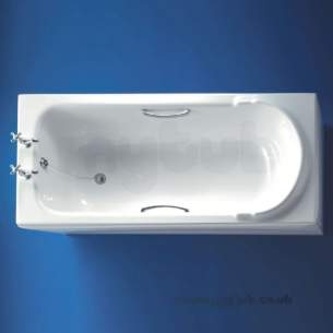 Ideal Standard Acrylic Baths -  Ideal Standard Ascot E4012 1700 X 750mm 2th Acr Bath Wh