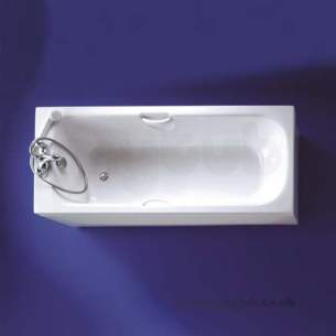 Armitage Shanks Acrylic Baths -  Armitage Shanks Cameo S111301 1700mm Bath Plus Clr Grips Wh