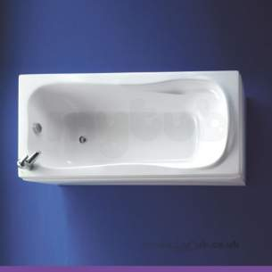 Ideal Standard Acrylic Baths -  Ideal Standard Caspian 1700 X 800 No Tap Holes I/cast Bath White