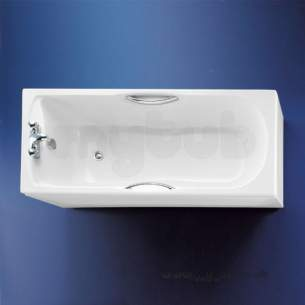 Armitage Shanks Acrylic Baths -  Armitage Shanks Halo S1145 1700mm Two Tap Holes Bath Wh