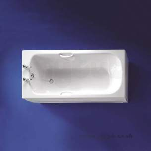 Armitage Shanks Acrylic Baths -  Armitage Shanks Cameo S1103 1500mm Two Tap Holes Tg Bath Wh