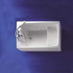 Armitage Shanks Acrylic Baths -  Armitage Shanks Showertub S125401 1200mm Two Tap Holes Bath Wh