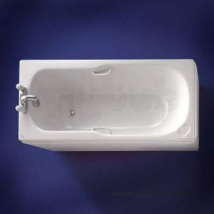 Ideal Standard Acrylic Baths -  Ideal Standard Studio E4164 No T/hole 1500mm Bath White