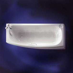 Ideal Standard Acrylic Baths -  Ideal Standard Studio E5832 1700 No Tap Holes Right Hand S/maker Bath Wh