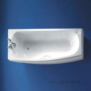 Ideal Standard Acrylic Baths -  Ideal Standard Studio 1700 X 700 No Tap Holes Right Hand Shower Bath White