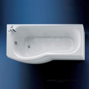 Ideal Standard Acrylic Baths -  Ideal Standard Alto E7603 1700 X 700mm Right Hand No Tap Holes Shower Bath Wh