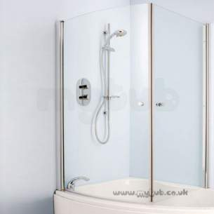 Ideal Standard Create Acrylic Baths -  Ideal Standard Create L9127 Bathscreen Encl Door Cp/clr