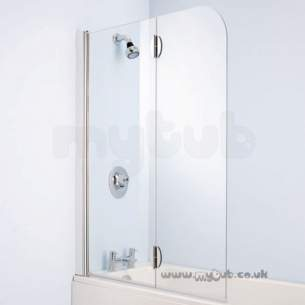 Bliss Shower Enclosures -  Armitage Shanks Bliss L9199 Left Hand Hngd Bathscreen Clr/p Slv