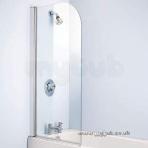 Trevi Shower Enclosures -  Armitage Shanks Connect L8402 900 X 1500 Bath Screen Svr/clr