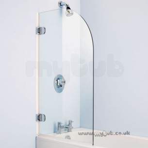 Ideal Standard Shower Doors and Panels -  Ideal Standard Connect Rialto E1016 Shower Screen Wh/cl