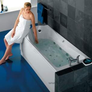 Ideal Standard Art and design Baths -  Ideal Standard Www T8998 1800 X 800 Left Hand Bath No Tap Holes Inc Pnl Wh