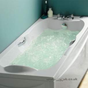 Ideal Standard Acrylic Baths -  Ideal Standard Alto E7692 1700 X 700 Whirlpool Right Hand Bath And Pan Wh