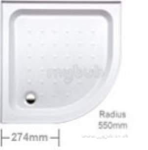 Coram Waterguard Shower Trays -  Coram 800mm 1-w/g 2u Quad Tray 2-pt Oe