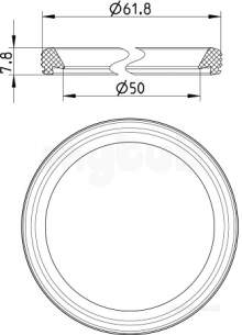 Blucher Drainage -  Epdm Sealing Ring-50mm 801.epdm.050