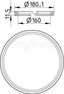 Blucher Drainage -  Epdm Sealing Ring-160mm 801.epdm.160