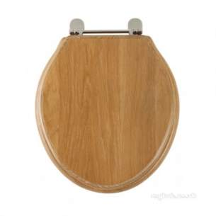 Roper Rhodes Toilet Seats -  Greenwich 8099 Toilet Seat Chrome/l-oak