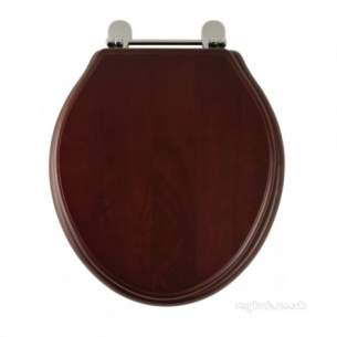 Roper Rhodes Toilet Seats -  Greenwich 8099 Toliet Seat Chrome/mahog
