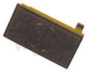Indesit Domestic Spares -  H-point 168877 Door Button Release Brown