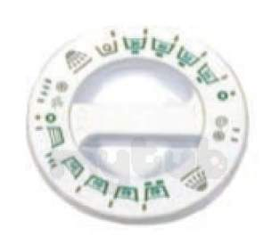 Indesit Domestic Spares -  Hotpoint 1600087 Timer Knob White 9546