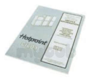 Indesit Domestic Spares -  Cannon Hotpoint 5400460 Manual C00220502