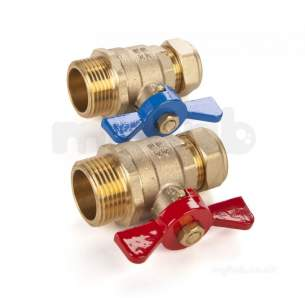 Wavin Plastic Supply Systems -  Wavin Ufh Composite Manifold Iso Valve 22