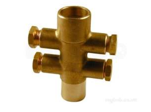 Yorkshire Microbore Fittings manifolds -  Yorkshire 1496 22x4-10mm Side.e Manifold