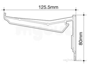 Osma Above Ground Drainage -  8t849b Black 111mm Gutter Hanging Brackt