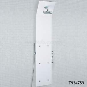 Ideal Standard Showers -  Ideal Standard Trevi T934859 Bop375 Crnr Shower Totem Metl