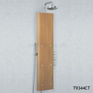 Ideal Standard Showers -  Ideal Standard Trevi T9345 Bop350 Crnr Shower Totem Wood
