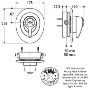 Trevi Compact Thermostatic Shower Valves -  Armitage Shanks Trevi Ctv L6745 Bi Ext Lvr Shower Mixer And Kit-obsolete