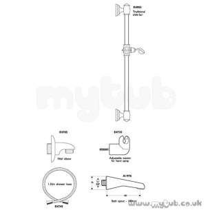 Ideal Standard Showers -  Ideal Standard Trevi E4705 Wall Elbow Lgp Special