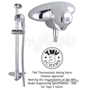 Trevi Compact Thermostatic Shower Valves -  Armitage Shanks Trevi Ctv L6737 Exp Mixer And Kit Cp