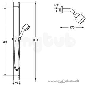 Ideal Standard Showers -  Ideal Standard Trevi L6712 Outline Fixed O/head 3f Cp Obsolete