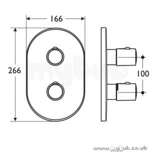 Ideal Standard Showers -  Ideal Standard Ascari A3971 Tt B/i S/thrm Trim Kit 2 Cp