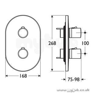 Ideal Standard Brassware -  Ideal Standard Cone A4020 Bi Shower Faceplateandhandles Cp