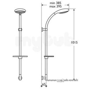 Ideal Standard Showers -  Ideal Standard M/shadow L6808 Frc S/f Fixed Riser Cp