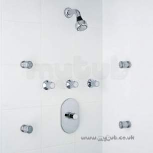 Ideal Standard Showers -  Ideal Standard Trevi Body Jet 4 Hp Shower Built In 3f Chr