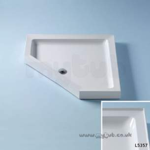 Trevi Showerworld Shower Trays -  Armitage Shanks Ideal Simplicity 900 Pent S/tray Ftop Pg