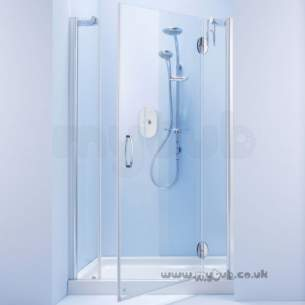 Bliss Shower Enclosures -  Armitage Shanks Bliss L8914 1200mm Alc Enc Lh/f/pnl Cl