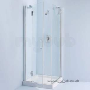 Bliss Shower Enclosures -  Armitage Shanks Bliss L8903 900mm Cnr Enc Right Hand And F/pnl Cl