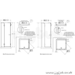 Bliss Shower Enclosures -  Armitage Shanks Bliss L9168 900mm Rh Cornr Entry Clr/slv