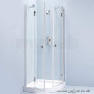 Bliss Shower Enclosures -  Armitage Shanks Bliss L8916 800mm Quad Enc Left Hand And I/pnl Cl