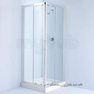 Ideal Standard Jado Showering -  Ideal Standard Joy L8280 850mm Corner Entry Slider Enc I/pnl Si/cl