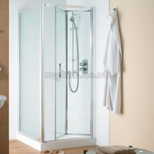 Ideal Standard Jado Showering -  Ideal Standard Joy Infold Door 750mm Silver Clear