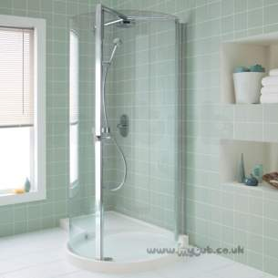 Ideal Standard Acrylic Shower Trays -  Ideal Standard Serenis 360 L5230 Left Hand 1700 X 1150 Shower Tray Cnr Wh