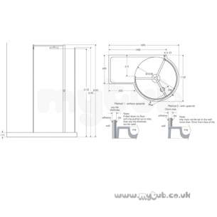 Ideal Standard Acrylic Shower Trays -  Ideal Standard Serenis 360 L5230 Lh 1700 X 1150 Shower Tray Cnr Wh