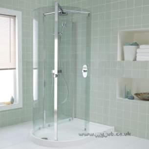 Ideal Standard Acrylic Shower Trays -  Ideal Standard Serenis 360 L8360 1500mm Peninsular Enclosure Cp