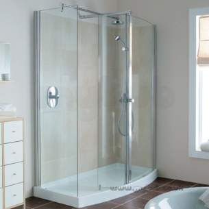 Ideal Standard Acrylic Shower Trays -  Ideal Standard Serenis 180 Corner L5235 Lh 1400 X 850 Shower Tray Wh