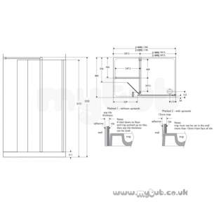 Ideal Standard Acrylic Shower Trays -  Ideal Standard Serenis 90 L5247 Left Hand 1200 X 900 Alcove Shower Tray Wh