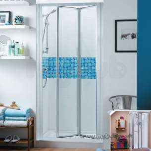 Trevi Shower Enclosures -  Ideal Standard Tipica Ps T2465yb 90 Shower Encl Tipica Infold Shower Door 850-900